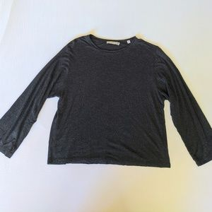 Vince Charcoal Gray 3/4 Sleeve Top S